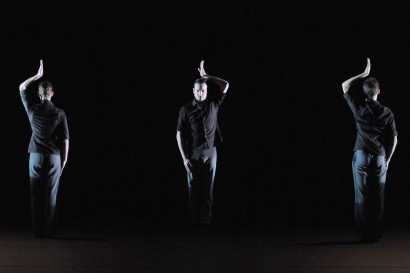 "From Marco Goecke's ""I Found a Fox II"". Caroline Fabre, Eric,  and Miriam Gronwald Photo by Regina Brocke"